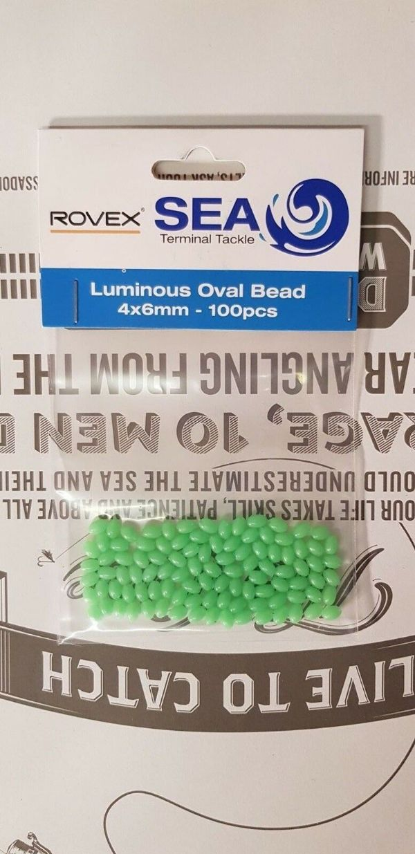 Rovex Luminous Oval beads 4x6mm... 100 per pack...